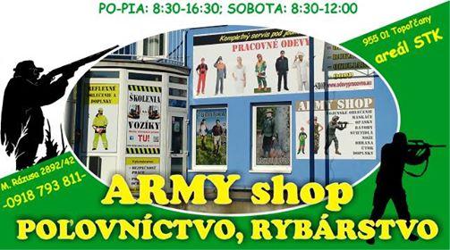 Army shop, poľovníctvo a rybárstvo